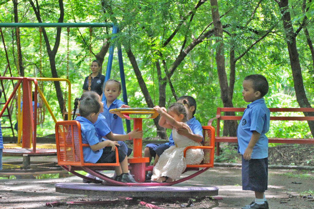Community children enjoy the NPH El Salvador play facilities